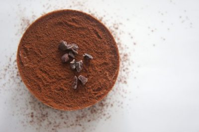 Chocolate powder in a cup